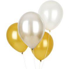 Ballons de baudruche mix metallic (10 pièces)