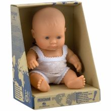 Poupée bébé garçon Européen (21 cm)  par Miniland