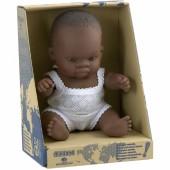 Poupée bébé fille Africaine (21 cm) - Miniland