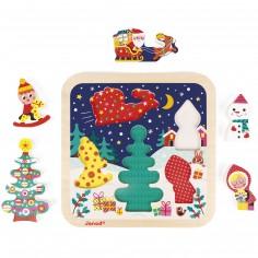 Puzzle à encastrement Chunky La magie de Noël