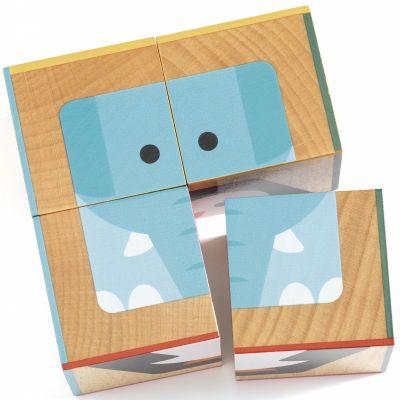 Puzzle cubes CubaBasic (4 cubes)  par Djeco