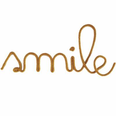 Déco murale Smile en tricotin (coloris personnalisable) Charlie & June