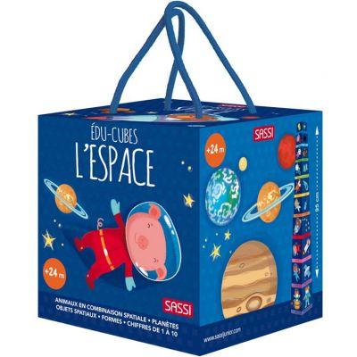 Livre + cubes à empiler Eco-cubes L'espace Sassi Junior