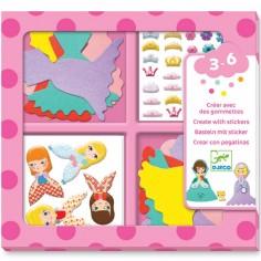 Atelier de gommettes J'aime les princesses