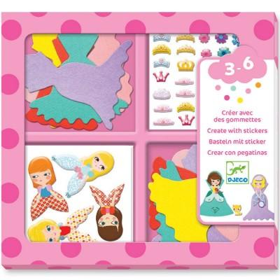 Atelier de gommettes J'aime les princesses Djeco