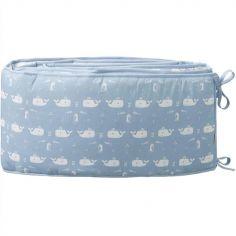 Tour de lit Baleine bleue (pour lits 60 x 120 cm et 70 x 140 cm)