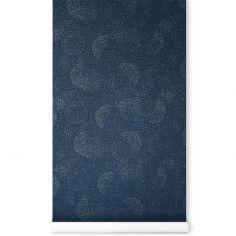 Papier peint bleu nuit Gold bubble