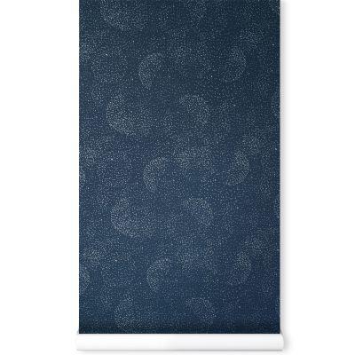 Papier Peint Bleu Nuit Gold Bubble Nobodinoz