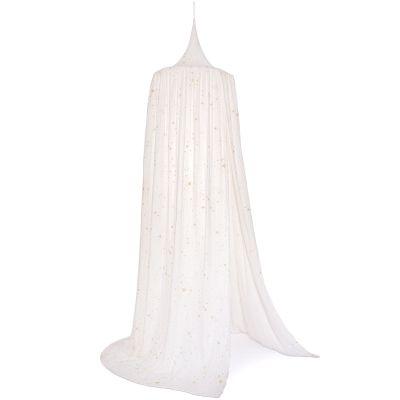 Ciel de lit blanc Amour Gold stella  par Nobodinoz