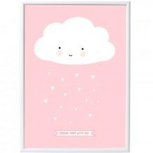Poster nuage rose (50 x 70 cm)  par A Little Lovely Company