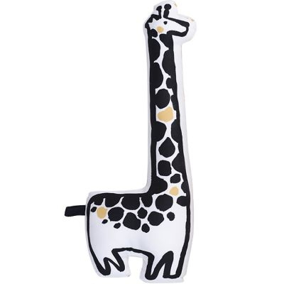 Coussin Girafe triangles jaune (46 x 15 cm) Wee Gallery