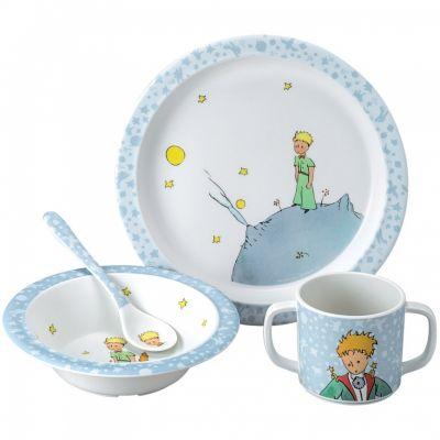 Coffret repas enfant bleu Petit Prince (4 pièces)  par Petit Jour Paris
