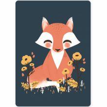 Petite carte les Animignons le renard (10,5 x 14,8 cm)  par Kanzilue