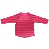 Tee-shirt de protection UV Spalsh & Fun rayures rose (12 mois) - Lässig