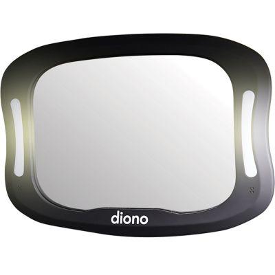 Miroir de surveillance avec éclairage Easy View XXL noir