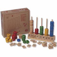 Abaque en bois pour apprendre à compter