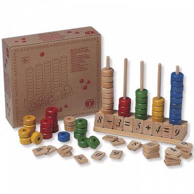 Abaque en bois pour apprendre à compter Goula