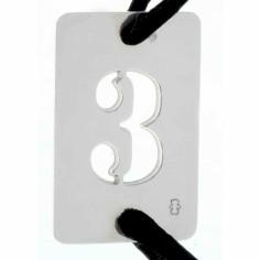 Bracelet cordon papa Lucky number rectangle en 30 mm (or blanc 750°)