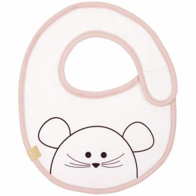 Bavoir éponge Little Chums souris (petit modèle)