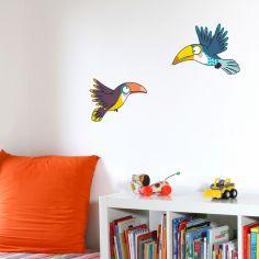 Stickers muraux Envol de toucans