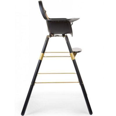 Kit de pieds longs pour chaise haute Evolu + repose pieds en bois naturel gris