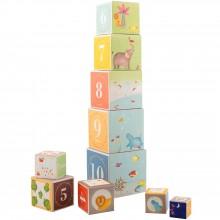 Cubes empilables Les Papoum  par Moulin Roty