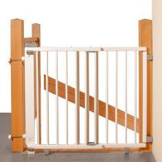 Barrière de sécurité Plus pour escalier blanche (95 à 135 cm)