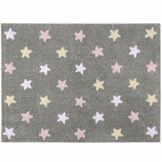 Tapis Estrellas gris rose (120 x 160 cm)