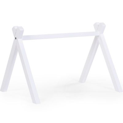 Arche d'activités Play Gym tipi en bois de hêtre blanc  par Childhome