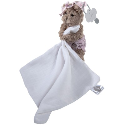 Doudou attache sucette lange Mlle Louise l'ourse Absorba