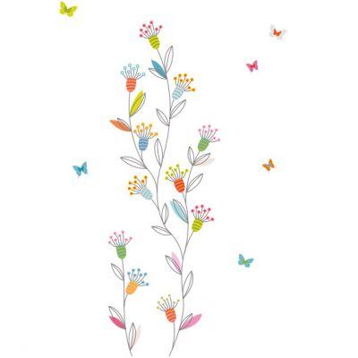 Sticker farandole de fleurs et papillons  par Série-Golo