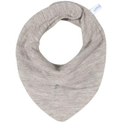 Bavoir bandana Pure grey  par Little Dutch