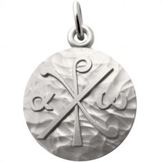 Médaille Chrisme 18 mm (argent 925°)