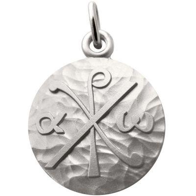 Médaille Chrisme 18 mm (argent 925°)  par Martineau