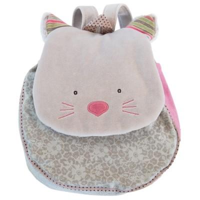 Sac à dos chat gris Les Pachats  par Moulin Roty
