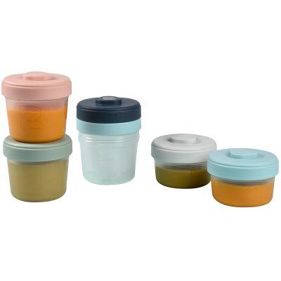 Lot de 6 pots de conservation bleu et rose (90 ml et 150 ml)  par Béaba