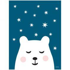 Affiche ours Polar night (40 x 30 cm)