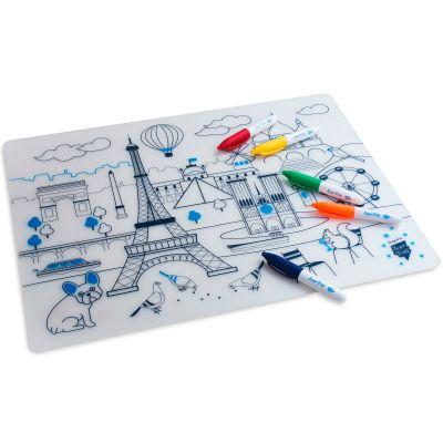 Set de table à colorier Paris  par Super Petit