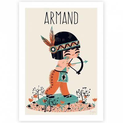 Affiche A4 Le petit indien (personnalisable)  par Kanzilue