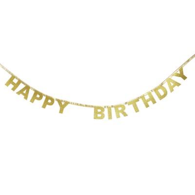 Guirlande Happy Birthday dorée
