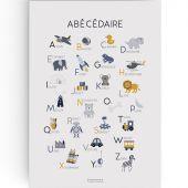 Affiche A3 Abécédaire bleu