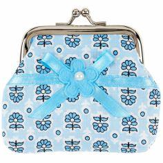 Porte monnaie fleur Kirsten bleu