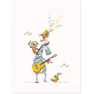 Affiche Boogie woogie (30 x 40 cm)  par Série-Golo