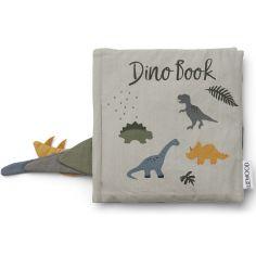 Livré bébé en tissu Dennis Dino vert d'eau