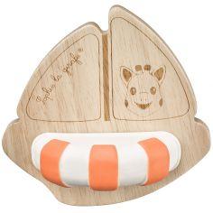 Jouet de dentition bateau Rubber & Wood
