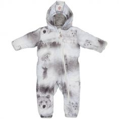Combinaison pilote Skier grise ours Botanimal (18-24 mois)