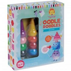 Set crayons, coloriages et autocollants Formes