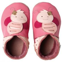 Chaussons bébé cuir Soft soles abeilles (3-9 mois)  par Bobux