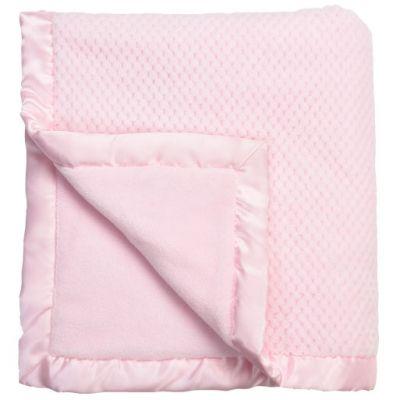 Couverture bébé en polyester Beryl rose (100 x 140 cm)  par Nougatine
