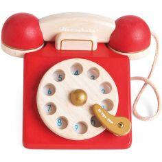 Téléphone vintage en bois Honeybake